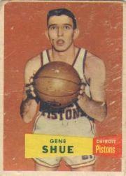 1957-58 Topps #26 Gene Shue DP RC