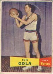 1957-58 Topps #44 Tom Gola DP RC
