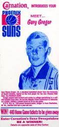 1968-69 Suns Carnation Milk #3 Gary Gregor