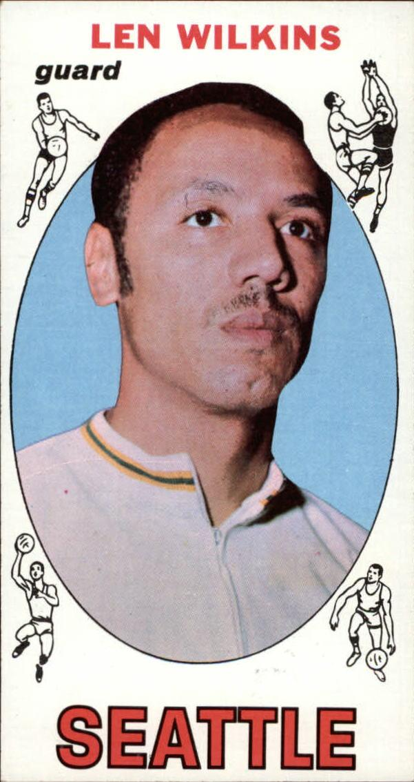 1969-70 Topps #44 Len Wilkens UER/(Misspelled Wilkins/on card back)