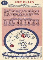 1969-70 Topps #57 Joe Ellis back image