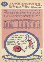1969-70 Topps #67 Luke Jackson RC back image