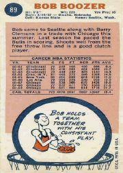 1969-70 Topps #89 Bob Boozer back image