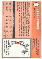 1970-71 Topps #27 Henry Finkel back image