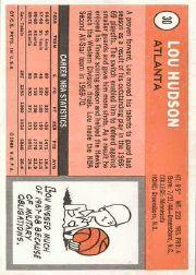 1970-71 Topps #30 Lou Hudson back image