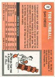 1970-71 Topps #32 Toby Kimball SP back image
