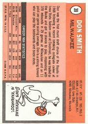 1970-71 Topps #39 Don Smith back image