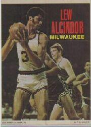 1970-71 Topps Poster #13 Lew Alcindor