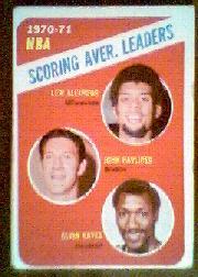 1971-72 Topps #139 Lew Alcindor/John Havlicek/Elvin Hayes LL