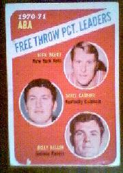 1971-72 Topps #149 Rick Barry/Darrell Carrier/Billy Keller LL
