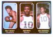 1971-72 Topps Trios #4 Walt Wesley/5 JoJo White/6 Bob Dandridge