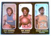 1971-72 Topps Trios #7 Nate Thurmond/8 Earl Monroe/9 Spencer Haywood