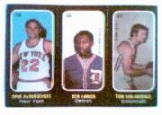 1971-72 Topps Trios #10 Dave DeBusschere/11 Bob Lanier/12 Tom Van Arsdale