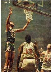 1971-72 Bucks Team Issue #1 Kareem Abdul-Jabbar