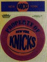 1974 Fleer Team Patches/Stickers #14 New York Knicks