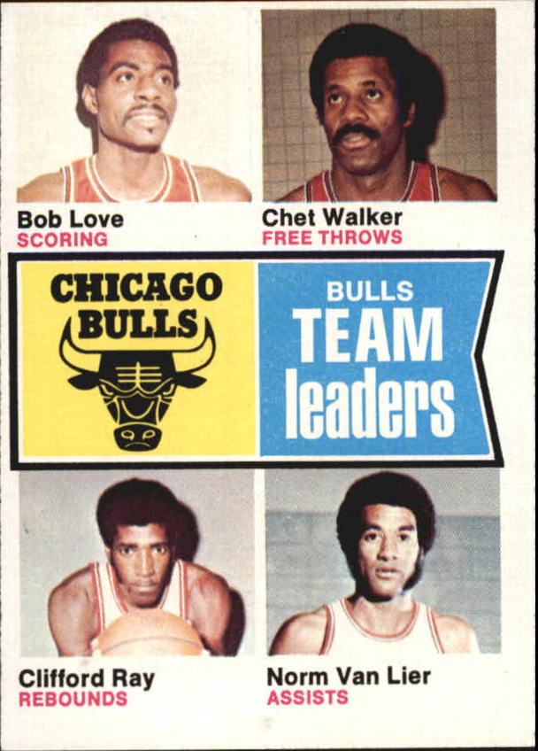 1974-75 Topps #84 Bob Love/Chet Walker/Clifford Ray/Norm Van Lier TL