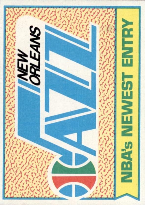 1974-75 Topps #92 New Orleans Jazz/Emblem; Expansion/Draft Picks on Back