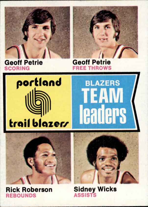 1974-75 Topps #96 Geoff Petrie/Geoff Petrie/Rick Roberson/Sidney Wicks TL