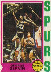 1974-75 Topps #196 George Gervin RC back image