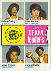 1974-75 Topps #226 Julius Erving/John Roche/Larry Kenon/Julius Erving TL