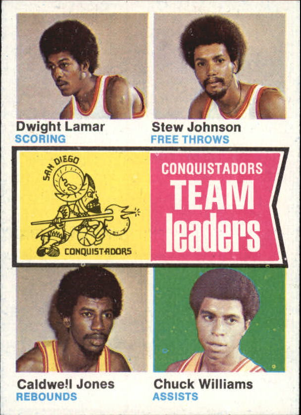 1974-75 Topps #228 Dwight Lamar/Stew Johnson/Caldwell Jones/Chuck Williams TL