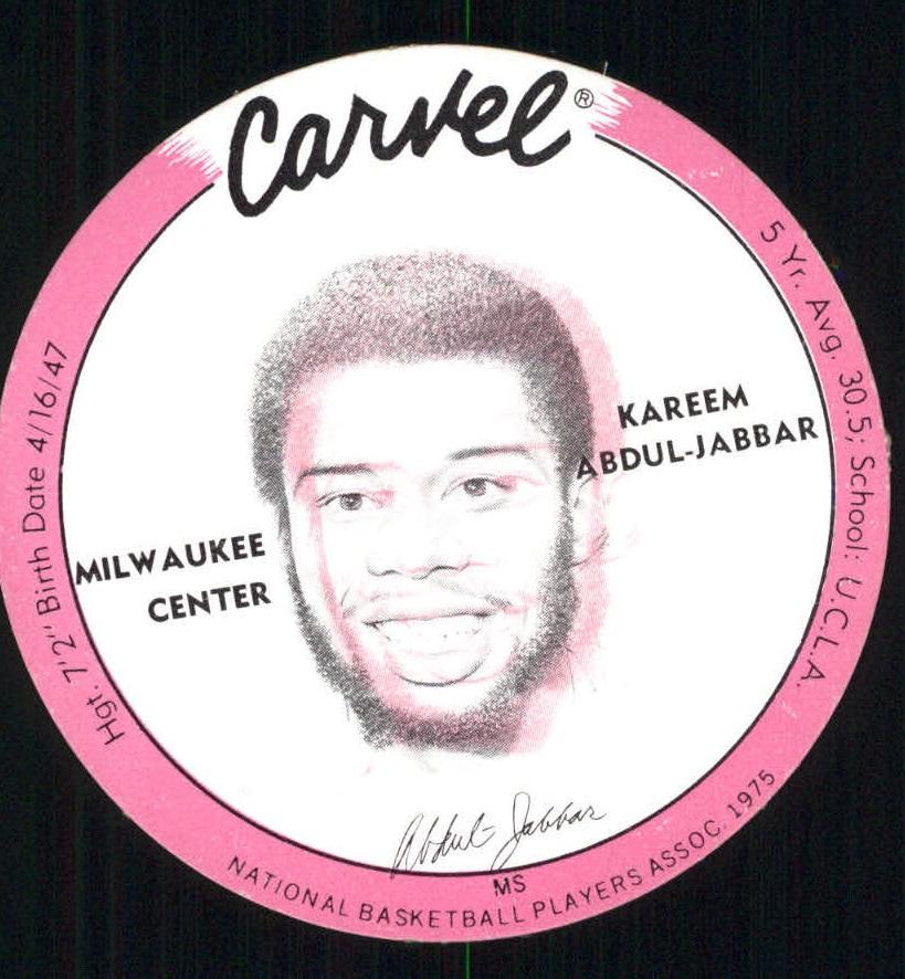 1975 Carvel Discs #1 Kareem Abdul-Jabbar