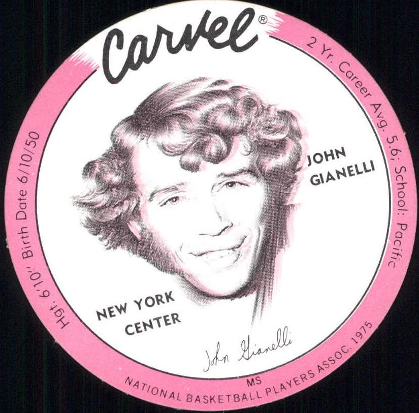 1975 Carvel Discs #9 John Gianelli