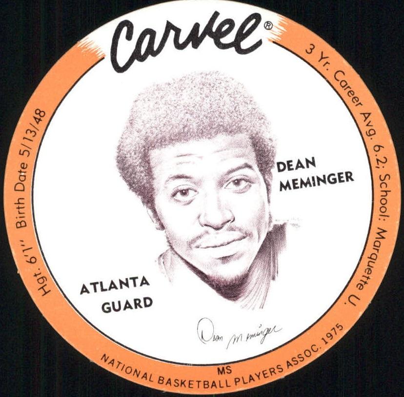 1975 Carvel Discs #22 Dean Meminger