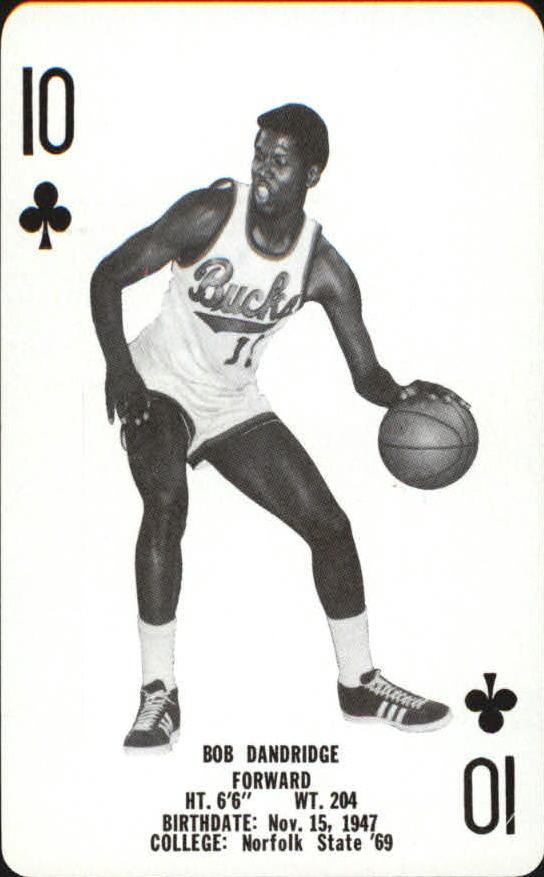 1976-77 Bucks Playing Cards #C10 Bob Dandridge