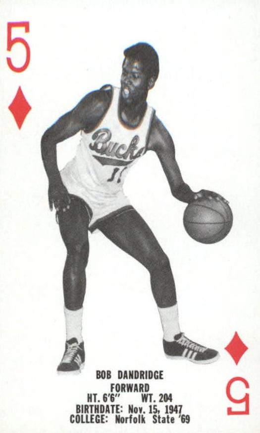 1976-77 Bucks Playing Cards #D5 Bob Dandridge