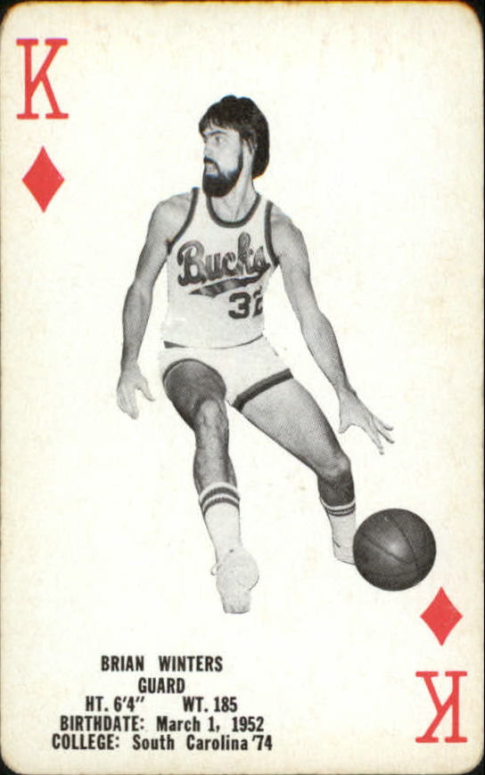 1976-77 Bucks Playing Cards #D13 Brian Winters