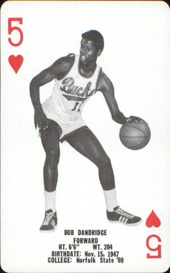 1976-77 Bucks Playing Cards #H5 Bob Dandridge