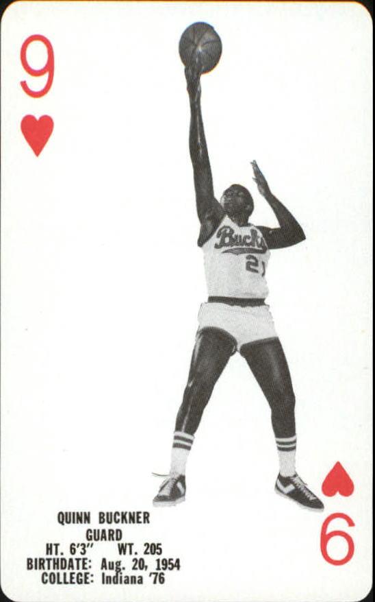 1976-77 Bucks Playing Cards #H9 Quinn Buckner