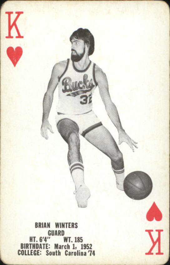 1976-77 Bucks Playing Cards #H13 Brian Winters