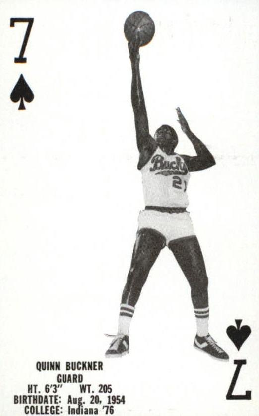 1976-77 Bucks Playing Cards #S6 Quinn Buckner