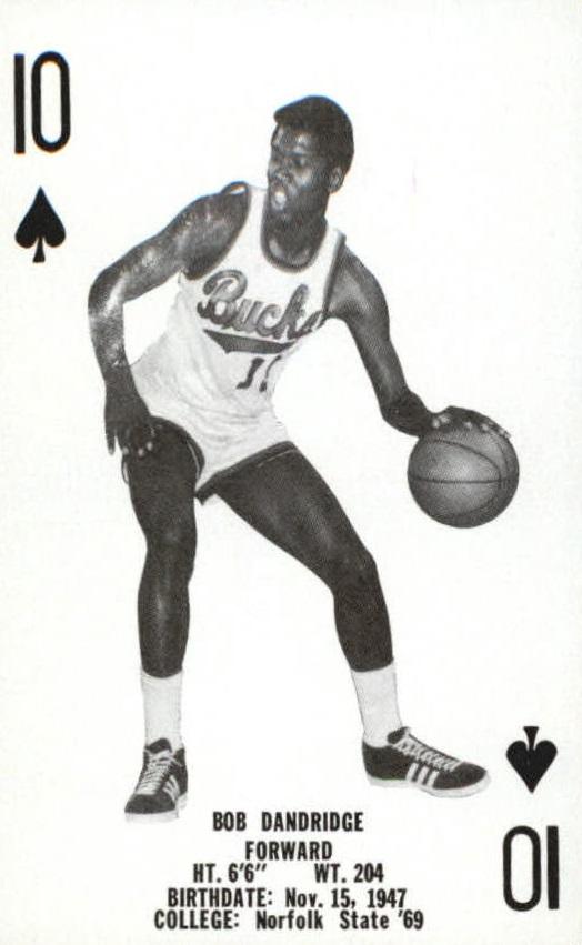 1976-77 Bucks Playing Cards #S10 Bob Dandridge