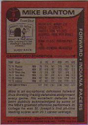 1979-80 Topps #9 Mike Bantom back image