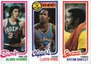 1980-81 Topps #156 189 Alvan Adams/14 Lloyd Free AS/240 Adrian Dantley