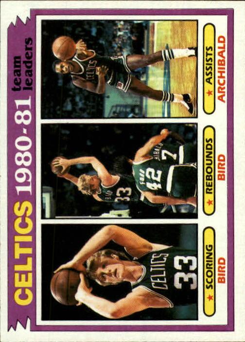 1981-82 Topps #45 Larry Bird/Larry Bird/Nate Archibald TL