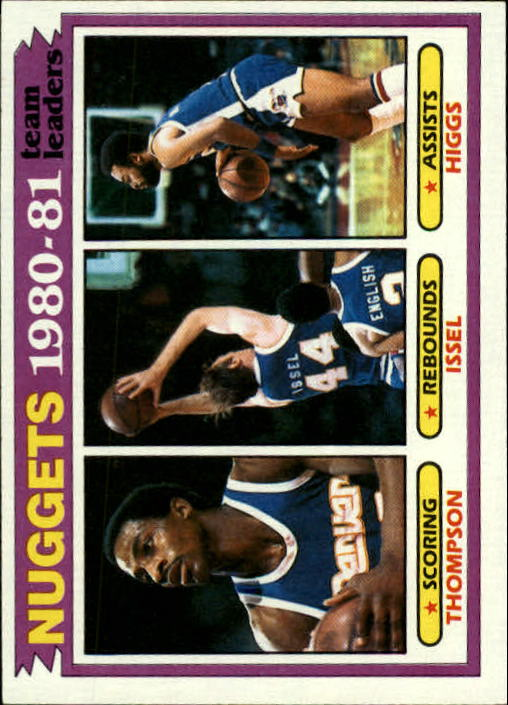 1981-82 Topps #49 David Thompson/Dan Issel/Kenny Higgs TL