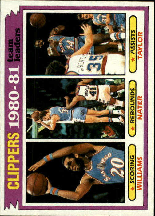 1981-82 Topps #63 Freeman Williams/Swen Nater/Brian Taylor TL