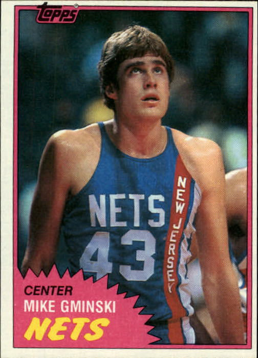 1981-82 Topps #E78 Mike Gminski RC