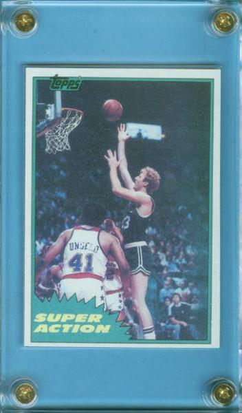 1981-82 Topps #E101 Larry Bird SA