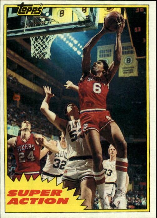 1981-82 Topps #E104 Julius Erving SA