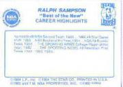 1986 Star Best of the New/Old #4 Ralph Sampson back image