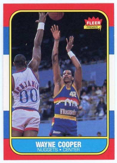 1986-87 Fleer #18 Wayne Cooper