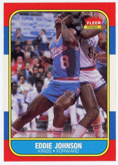 1986-87 Fleer #51 Eddie Johnson RC