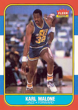 1986-87 Fleer #68 Karl Malone RC