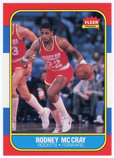 1986-87 Fleer #71 Rodney McCray RC