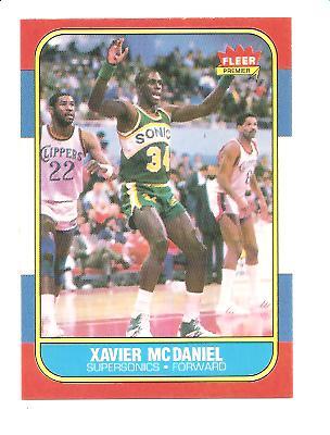 1986-87 Fleer #72 Xavier McDaniel RC